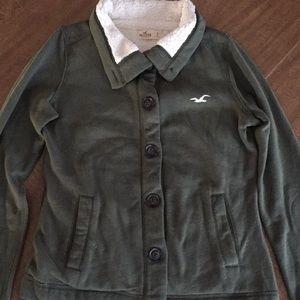 Green Hollister jacket